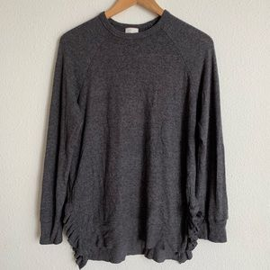 Anthropologie Postmark ruffle crew neck sweater